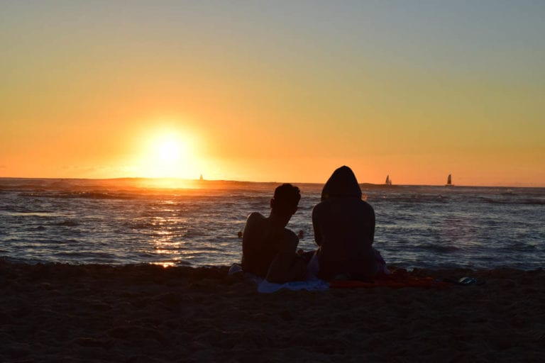 Save More, Retire Earlier. Oahu Sunset